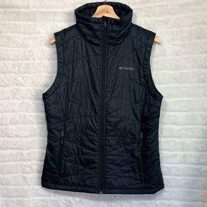Columbia Sportswear Black Turtleneck Omniheat Vest